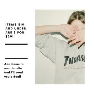 Items $10 and under are 3 for $20!!!